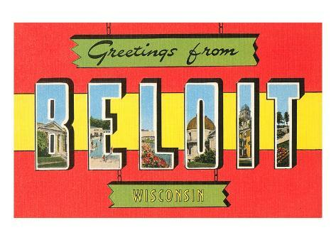Greetings from Beloit, Wisconsin Stretched Canvas Print
