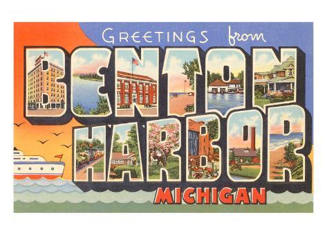 Greetings from Benton Harbor, Michigan Art Print
