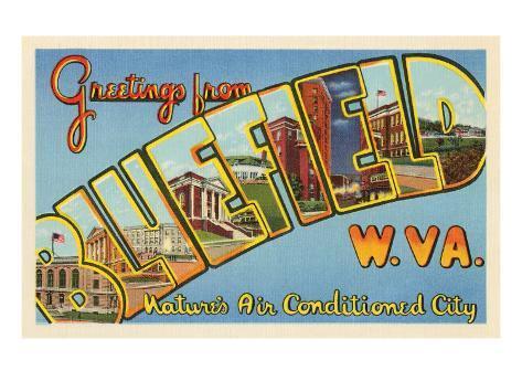 Greetings from Bluefield, West Virginia Art Print