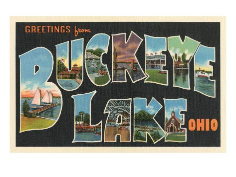 Greetings from Buckeye Lake, Ohio Art Print