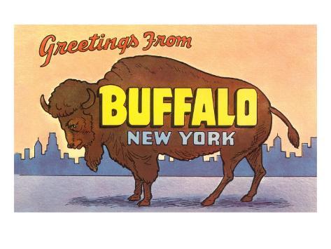 Greetings from Buffalo Art Print