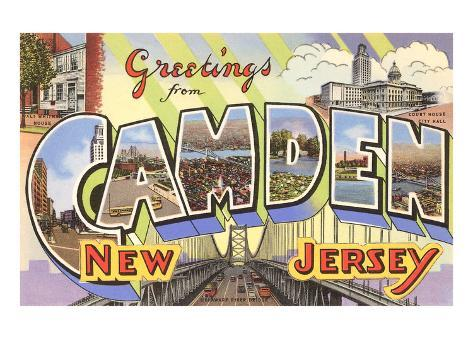 Greetings from Camden, New Jersey Art Print