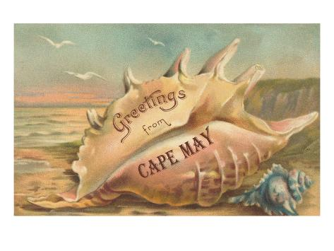 Greetings from Cape May, New Jersey Art Print