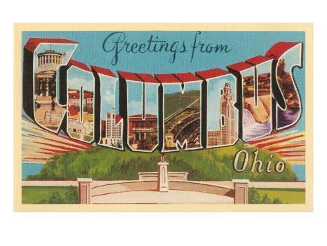 Greetings from Columbus, Ohio Art Print