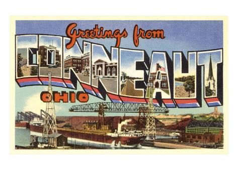 Greetings from Conneaut, Ohio Art Print