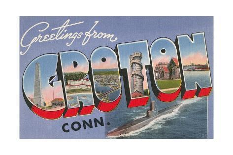 Greetings from Croton, Connecticut Giclee Print