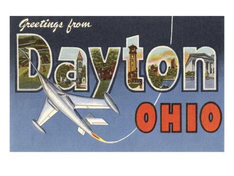 Greetings from Dayton, Ohio Art Print