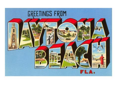 Greetings from Daytona Beach, Florida Art Print
