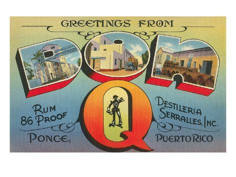 Greetings from don q ponce puerto rico poster at allposters greetings from don q ponce puerto rico m4hsunfo