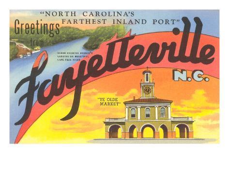 Greetings from Fayetteville, North Carolina Art Print