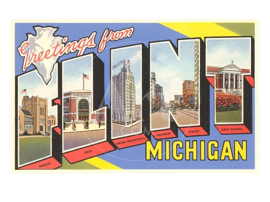 Greetings from flint michigan prints at allposters m4hsunfo