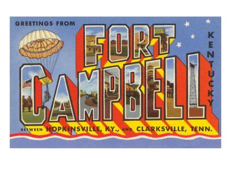 Greetings from Fort Campbell, Kentucky Art Print