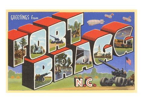 Greetings from Ft. Bragg, North Carolina Art Print