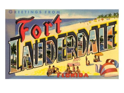 Greetings from Ft. Lauderdale, Florida Art Print