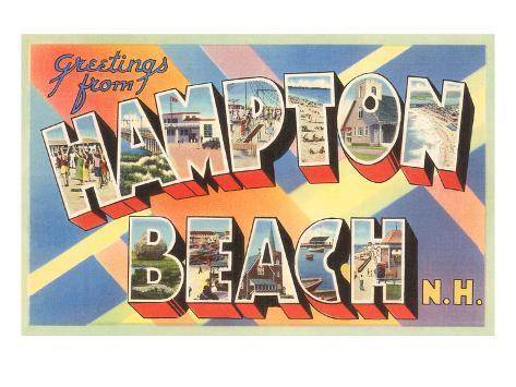 Greetings from Hampton Beach, New Hampshire Art Print