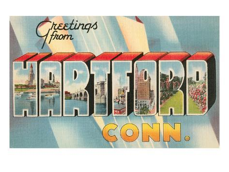 Greetings from Hartford, Connecticut Stretched Canvas Print