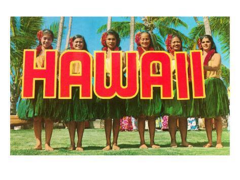 Greetings from Hawaii Art Print