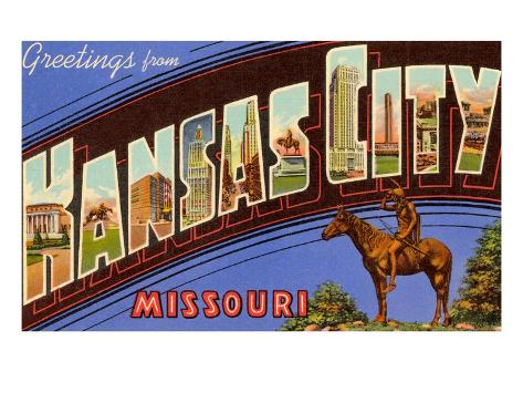 Greetings from Kansas City, Missouri Art Print