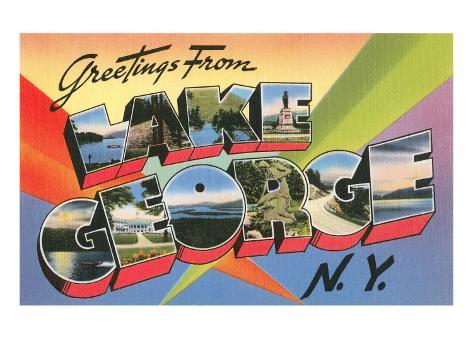 Greetings from Lake George, New York Art Print