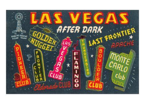 Greetings from Las Vegas, Nevada Art Print