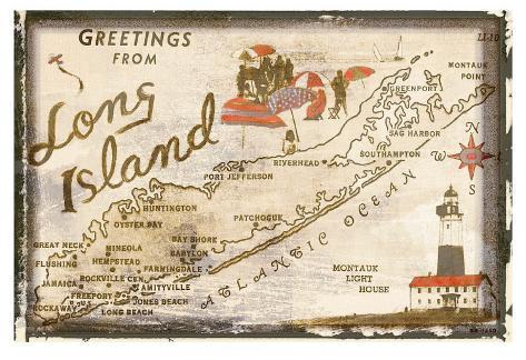 Greetings from Long Island Art Print