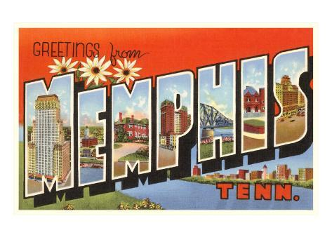 Greetings from Memphis, Tennessee Art Print