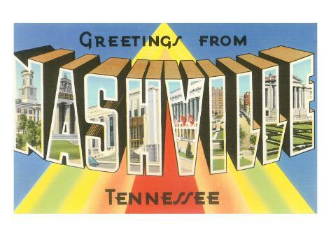 Greetings from Nashville, Tennessee Art Print