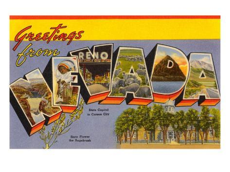 Greetings from Nevada Art Print