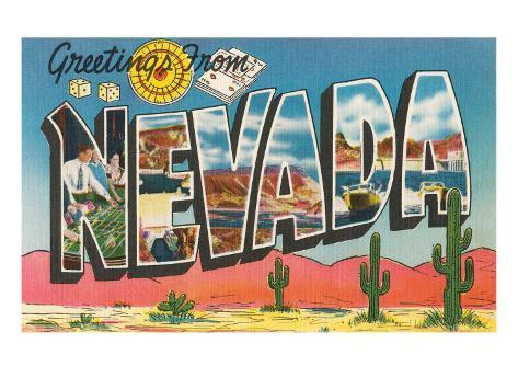 Greetings from Nevada Art Print