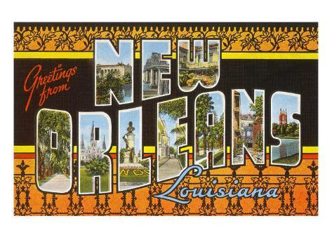 Greetings from new orleans louisiana prints at allposters greetings from new orleans louisiana m4hsunfo