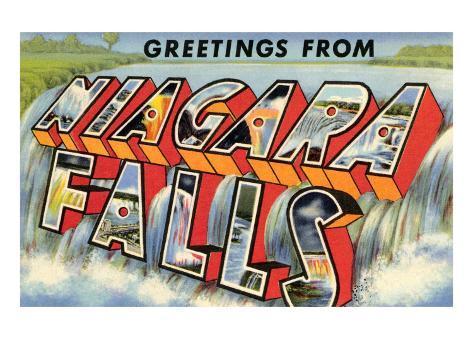Greetings from Niagra Falls, New York Art Print