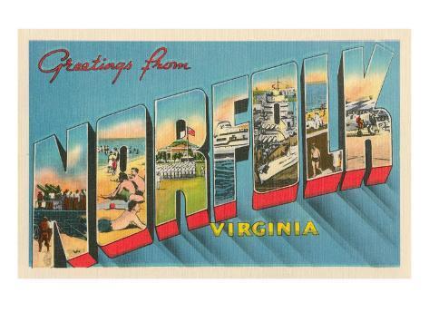 Greetings from Norfolk, Virginia Art Print
