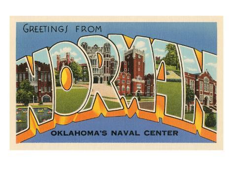 Greetings from Norman, Oklahoma Art Print