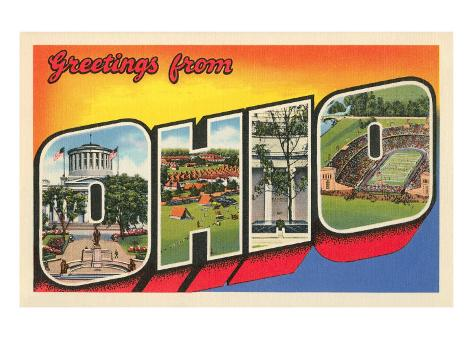 Greetings from Ohio Art Print