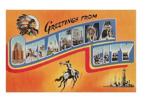 Greetings from Oklahoma City Art Print