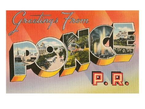Greetings from ponce puerto rico print allposters greetings from ponce puerto rico m4hsunfo