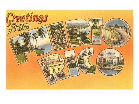 Greetings from puerto rico prints by allposters greetings from puerto rico m4hsunfo