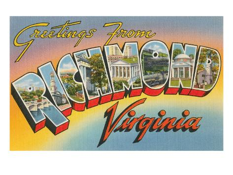 Greetings from Richmond, Virginia Art Print