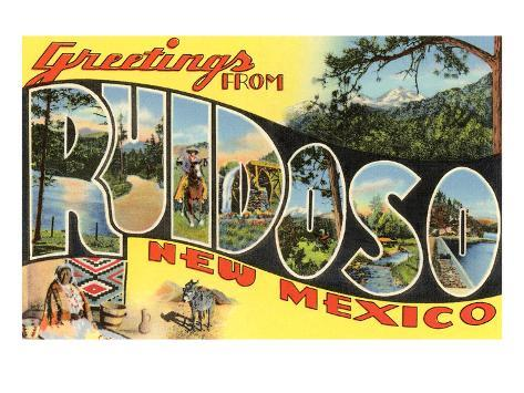 Greetings from Ruidoso, New Mexico Art Print