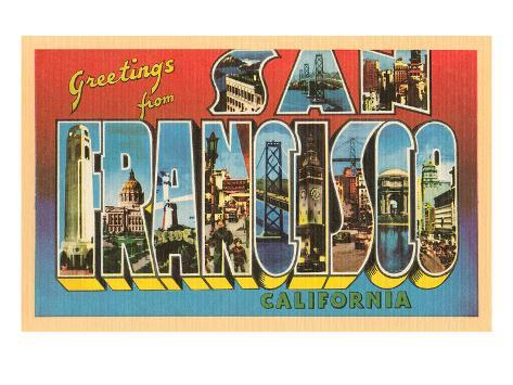 Greetings from san francisco california posters by allposters greetings from san francisco california m4hsunfo