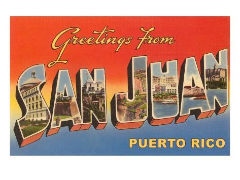 Greetings from san juan puerto rico art allposters greetings from san juan puerto rico m4hsunfo