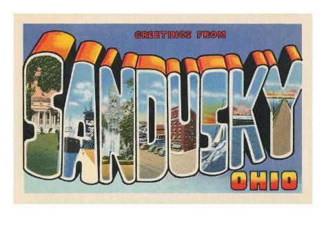 Greetings from Sandusky, Ohio Art Print
