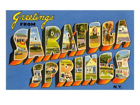 Greetings from Saratoga Springs, New York Art Print