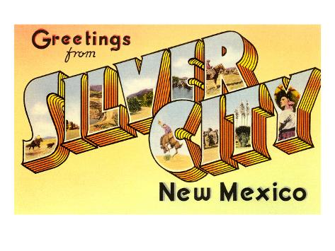 Greetings from Silver City, New Mexico Art Print