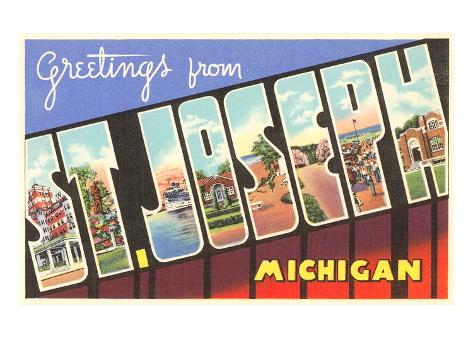 Greetings from St. Joseph, Michigan Art Print