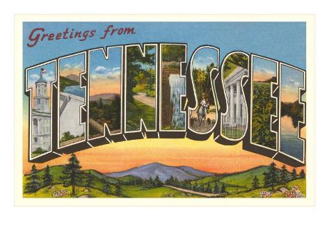 Greetings from Tennessee Art Print