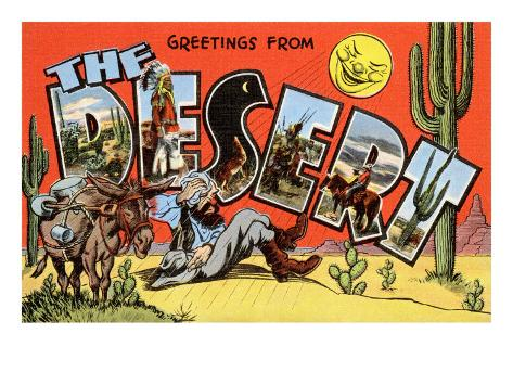 Greetings from the Desert Art Print