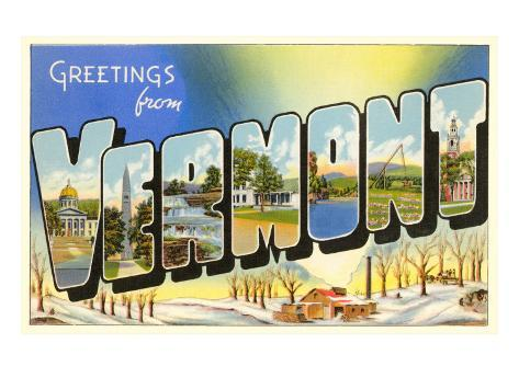 Greetings from Vermont Art Print