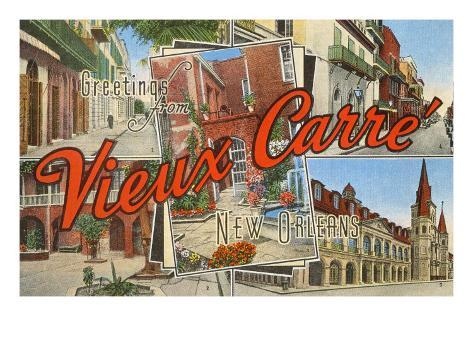 greetings from vieux carre new orleans louisiana art at. Black Bedroom Furniture Sets. Home Design Ideas