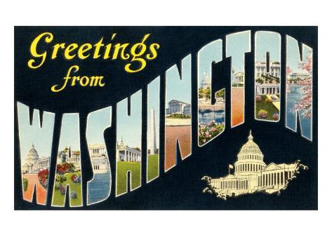 Greetings from Washington, D.C. Art Print
